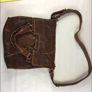 Lucky brand brown leather handbag